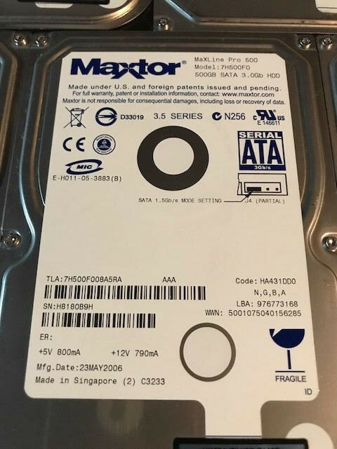 Maxtor 7H500F0 500GB 7200RPM 16MB SATA Hard Drive ***5-PACK***