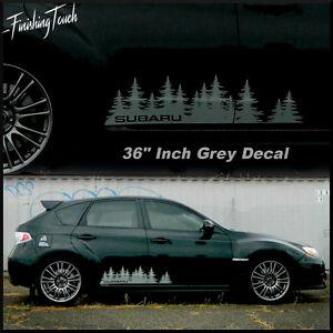 Subaru Custom Tree Forest Vinyl Decal Sticker Graphic WRX STI - Custom exterior vinyl decals