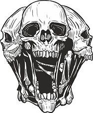 Skull Aufkleber Totenkopf Motorrad WOHNWAGEN LKW Tank Helm Bike Schädel #20