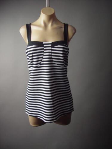 Black White Stripe French Gamine Sailor Bustier Top 189 mv Shirt 1XL 2XL 3XL