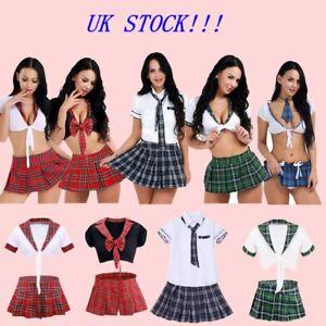 93352174c UK -Women Naughty School Girl Nerd Fancy Dress Geek Hen Party Outfit ...