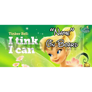 Disney Tinkerbell Personalised Baby On Board Car Sign 2