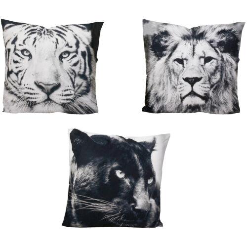 Magazzino sgombero cuscino decorativa con motivo animali 50x50cm CUSCINO CUSCINI NERO//BIANCO