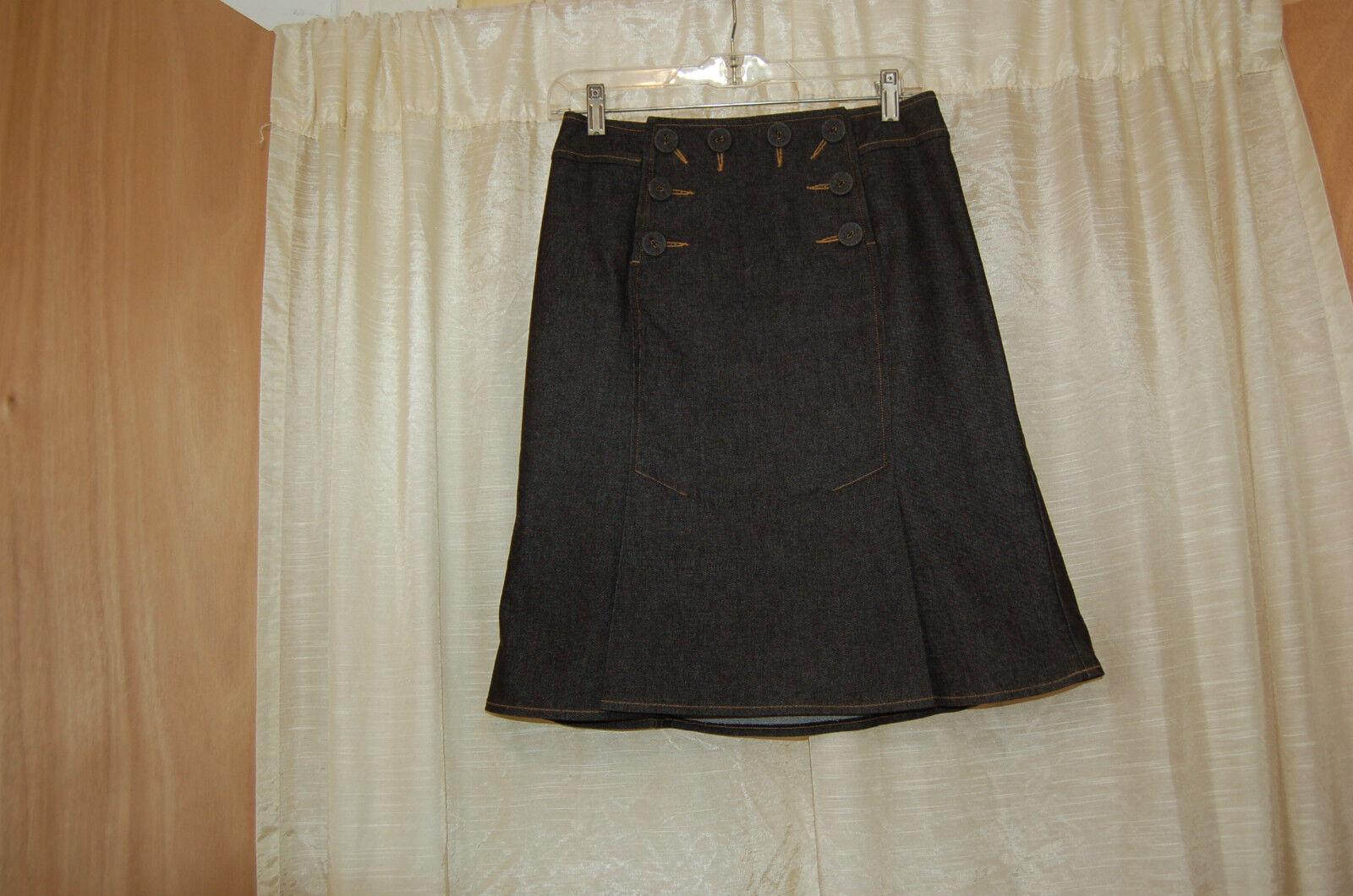 Nanette Lepore Denim Navy bluee Sailor Style Skirt Size 2