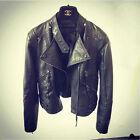 Women's Fashion Vintage Slim Biker Motorcycle PU Soft Leather Zipper Jacket Coat
