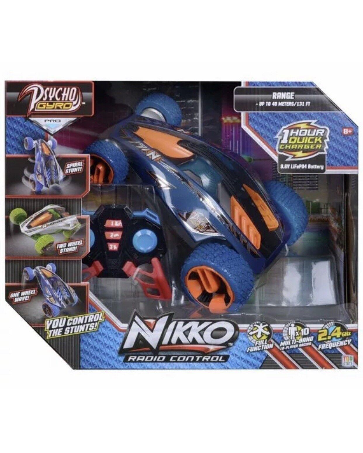 Nikko R C Psycho Gyro Toy bluee kids car radio control