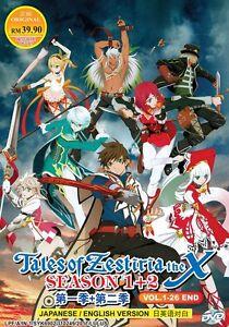 DVD-Anime-Tales-Of-Zestiria-The-X-Complete-Season-1-2-1-26-English-Dubbed