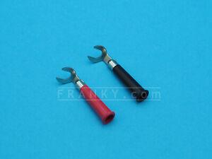 ETA3004 6.2mm Spade Connectors Fork Terminals  (1 Pair Red + Black)