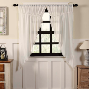 Remarkable Details About Tobacco Cloth Antique White Cotton Country Cottage Window Prairie Curtains Download Free Architecture Designs Terchretrmadebymaigaardcom