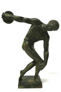 Antike Bronze Figur Diskuswerfer Myron um 1900