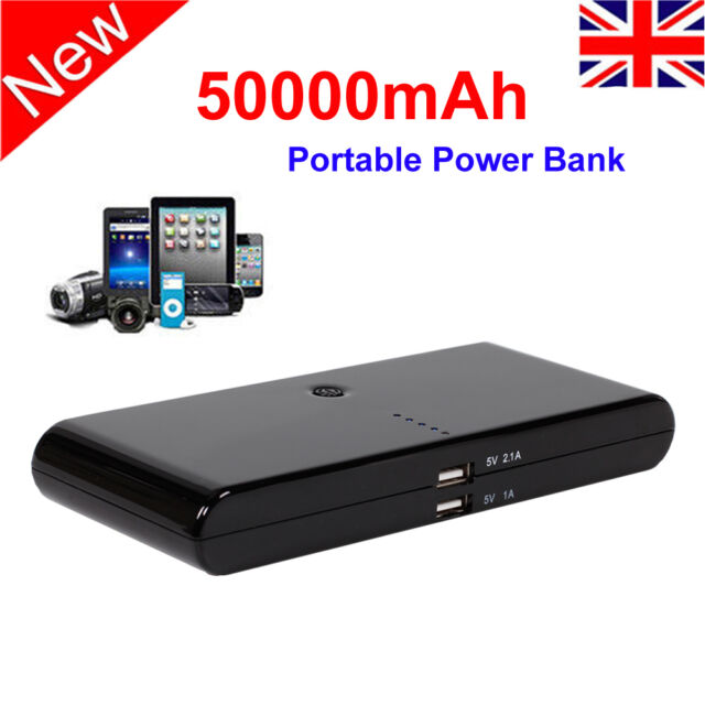 50000mAh Power Bank Pack Portable USB Battery Charger External For Mobile Phone