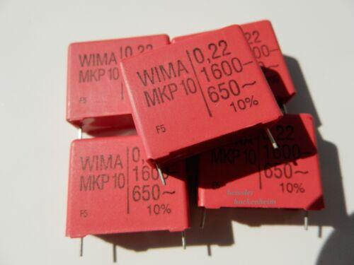 27,5 5 x wima MKP 10 Condensateur polypropylène 0,22µf-1600-650 ~ 220nf Ausgr