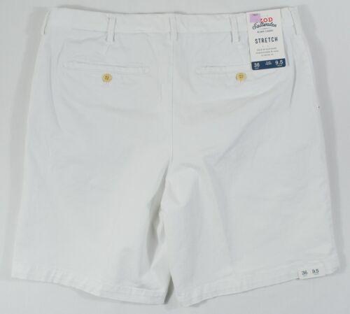 "Izod Saltwater #7807 NEW Men/'s Flat Front 9.5/"" Inseam Stretch Shorts MSRP $55"