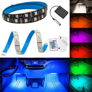 pretty nice d3a31 47217 Details about WOW - 5V RGB LED Strip Light Battery Powered TV Backlight Car  SUV Interior Light