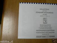 Z0003 ZUNDAPP---ERSATZTEILLISTE---K500-MODELYEAR ABOUT--1933-41