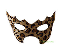 Leopard Cat Eye Mask Cheetah Print Spots Costume Animal Womens Girls Cosplay NEW