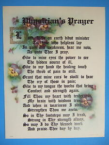 PHYSICIAN-Doctor-PRAYER-Verse-Catholic-Picture-lovely-vintage-reproduction