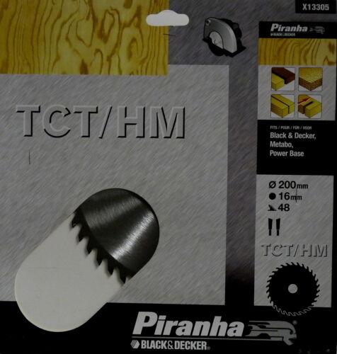 Hartholz X13305 für Weichholz 200 mm Piranha Kreissägeblatt TCT//HM