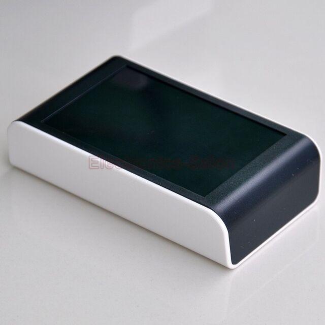 Desktop Instrumentation Project Enclosure Box Case, White-Black, ABS, -S-.