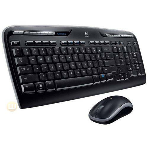 Logitech Keyboard and Mouse 920-002836 Wireless Desktop MK320 2.4GHz