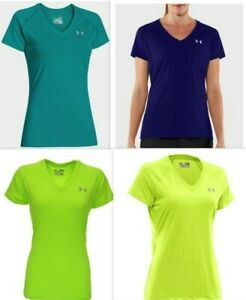 Under-Armour-Womens-UA-Tech-HeatGear-Tee-1228321-Pick-SZ-Color-Yellow-Green-Blue