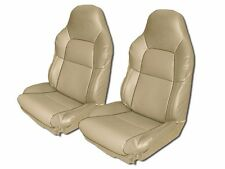 CHEVY CORVETTE C4 STANDARD 94-96 BEIGE S.LEATHER CUSTOM FIT SEAT COVER