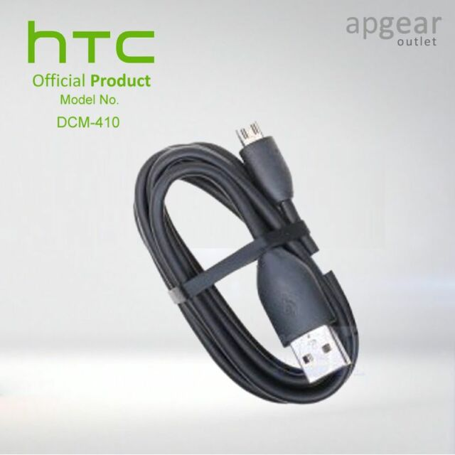 GENUINE HTC DCM 410 MICRO USB DATA CABLE SYNC & CHARGE FOR HTC ONE M7 - BLACK