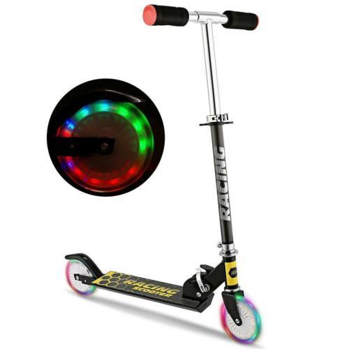 Cityroller Kinderroller Aluminium Scooter Roller Tretroller Kickboard LED Räder