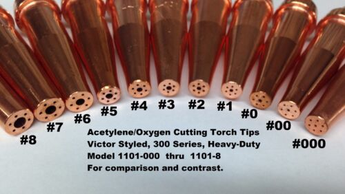 5 Tip Package OXYGEN//ACETYLENE CUTTING TORCH TIPS-#1 1-101-1 VICTOR TYPE