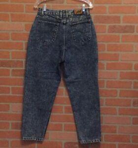 0809ff0e Vintage 80s 90s Lee Jeans Womens 14 Petite Acid Wash Mom High Waist ...