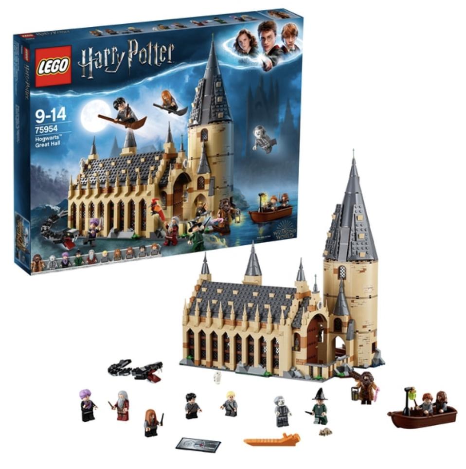 Lego 75954 Harry Potter Poudlard Great Hall-Jouets de Noël pour enfant jeu complet