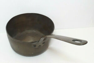 Antique-Heavy-Solid-Brass-7-034-Pan