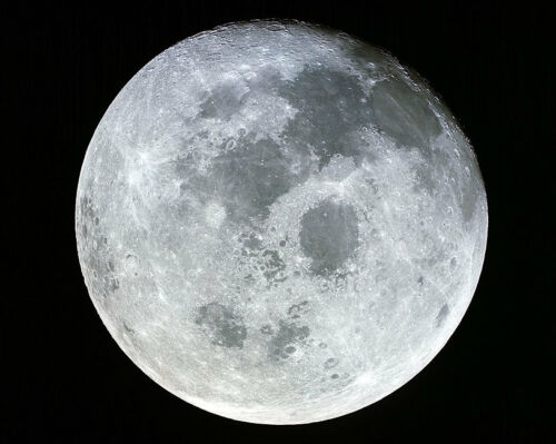 APOLLO 11 MOON FROM SPACE 11x14 SILVER HALIDE PHOTO PRINT