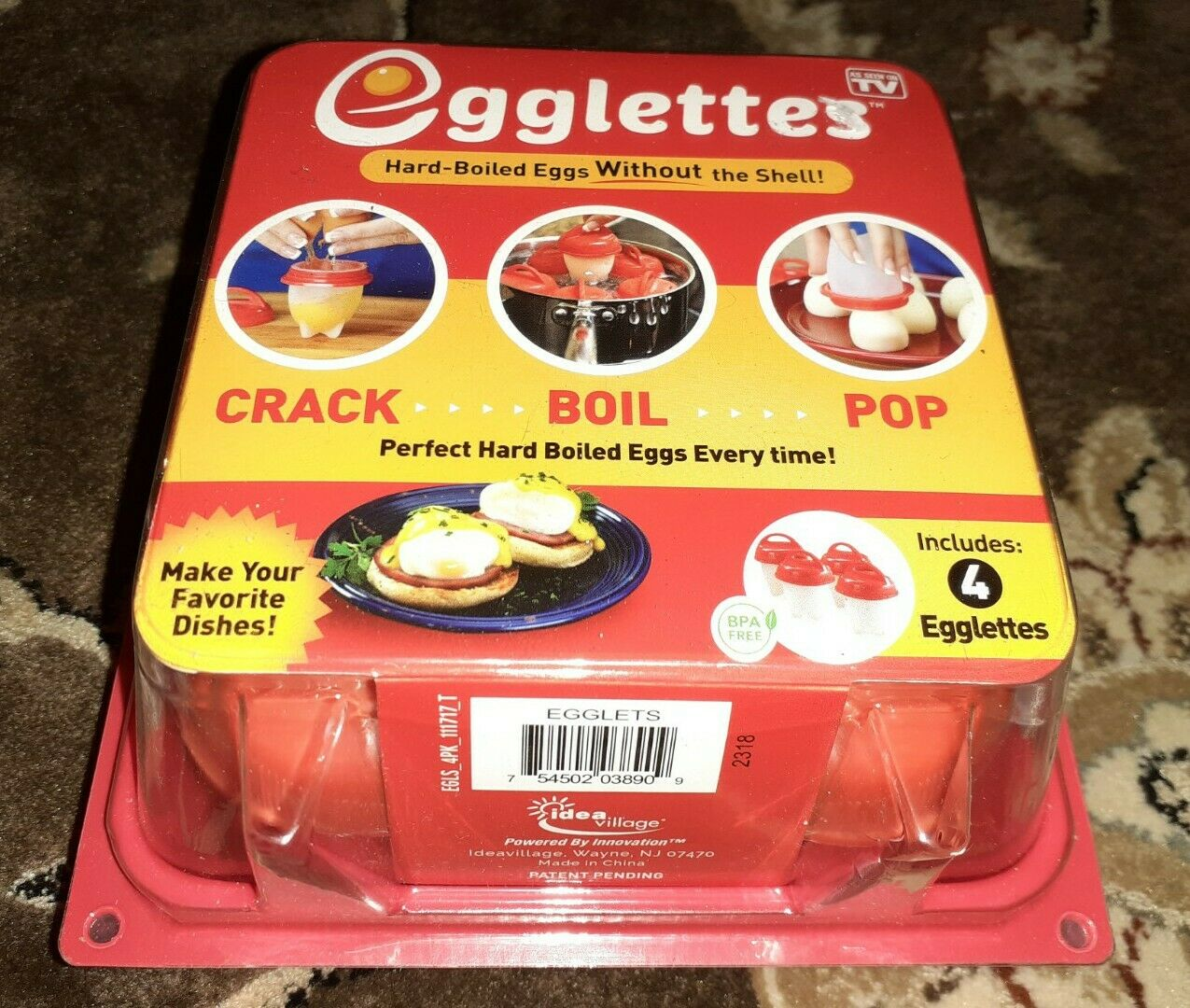 Silicone Egg Cup/'s M17E NEW Egglettes Hard Boiled Egg Cooker w//o the Shell 4 ct