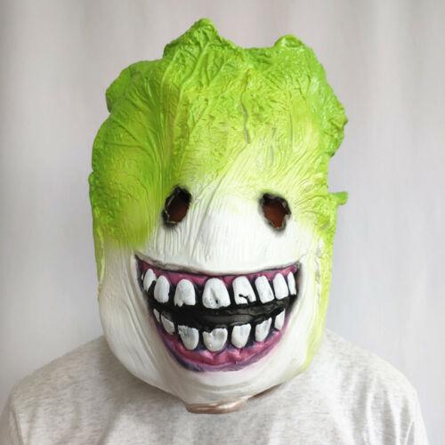 funny plant model Brassica pekinensis latex mask Halloween masquerade prop adult