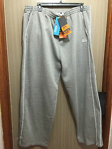 BNWT-Mens-Sz-5XL-King-Size-Slazenger-Brand-Grey-Marle-Side-Piping-Track-Pants