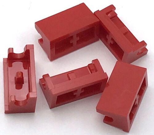 Lego 5 New Red Hinge Bricks 1 x 2 Base Pieces