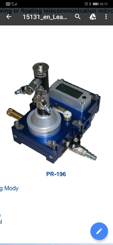 PR 196 Blowing machine