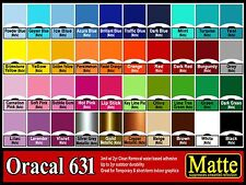 "5 rolls 24""  Oracal 631  Matte  adhesive backed vinyl Sign & Craft"