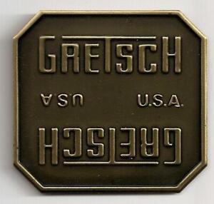 Gretsch-USA-Bronze-Drum-Badge-Nameplate-No-Hole-Snare-Tom-Bass-NOS