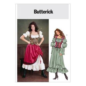McCalls Cosplay Ladies Sewing Pattern 2084 Papillon Swallowtail Coat /& Sh...