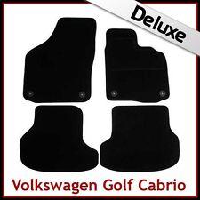 VW Golf Mk6 Cabriolet 2011-2016 Tailored LUXURY 1300g Carpet Mats BLACK