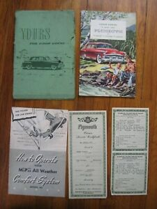 1951 Plymouth Concord Cambridge Cranbrook Owners Manual ...