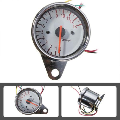 DC12V Universal Motorcycle LED Backlight Tachometer Electronic Tach Meter Gauge