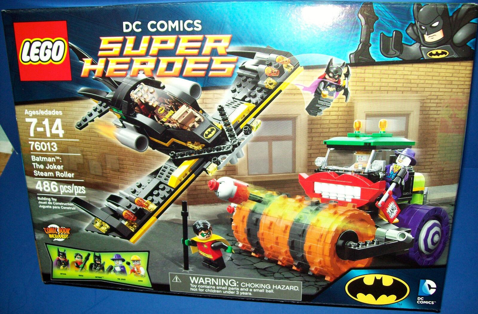 Lego 76013 Supereroi Dc Comics Batman The Joker Steam Roller Nisb 5-figures