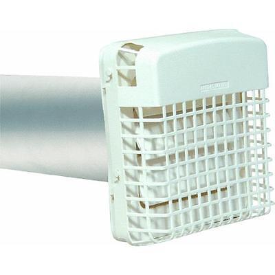"4"" White Plastic ProGard Clothes Dryer Exhaust Vent Cover Hood BPGH4WZW"