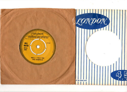 """RARE"" SOULR&B ""DEMO"".CHANTELS.WELL I TOLD YOU STILL.UK ORIG 7"" & COSL's.EX"