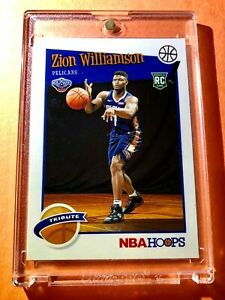 Zion-Williamson-PANINI-NBA-HOOPS-TRIBUTE-2019-20-HOT-ROOKIE-CARD-RC-296-Mint