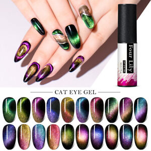 FOUR LILY 5D 9D Magnet Cat Eye Nail Gel Polish Chameleon Soak Off UV Gel  Decor | eBay