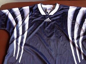 52d234b5508d Image is loading Adidas-Pullover-Thin-Jacket-Navy-Blue-Polyester-Medium-
